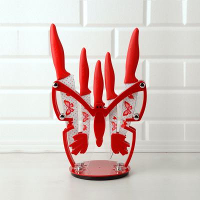 Rooc Kelebek Standlı Bıçak Seti 6 Parça Asorti - Thumbnail