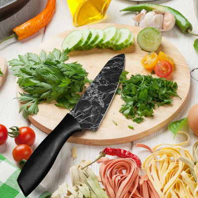 Rooc - Rooc Mermer Desenli Şef Bıçağı 28cm