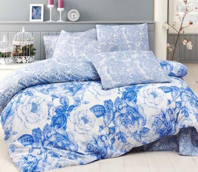 Diğer - Rosa Poly Cotton Çift Kişilik Nevresim Takımı Mavi