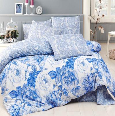 Diğer - Rosa Poly Cotton Tek Kişilik Nevresim Takımı Mavi