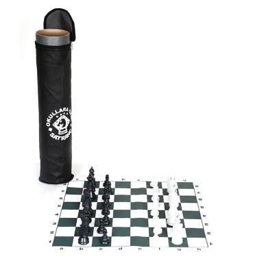 Diğer - Rulo Satranç Takımı Bez Kutulu 45cm