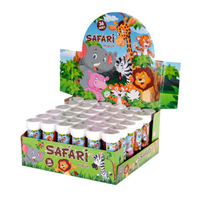 Diğer - Safari Baskılı Köpük Baloncuk Çıkaran Oyuncak