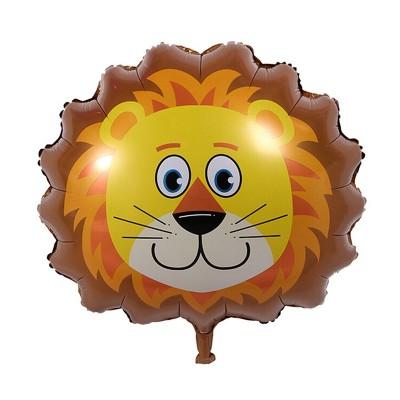 Diğer - Safari Hayvanları Aslan Folyo Balon 30cm
