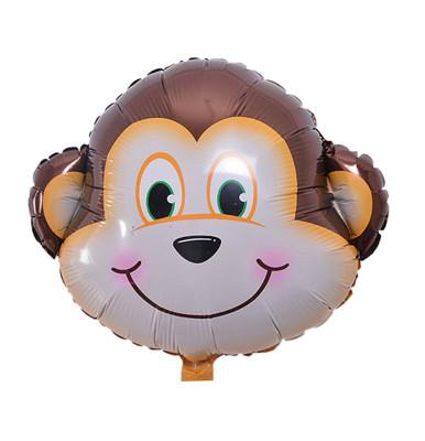 Diğer - Safari Hayvanları Maymun Folyo Balon 30cm