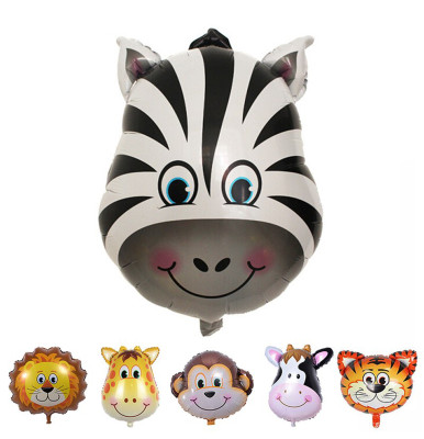 Safari Hayvanları Zebra Folyo Balon 30cm - Thumbnail