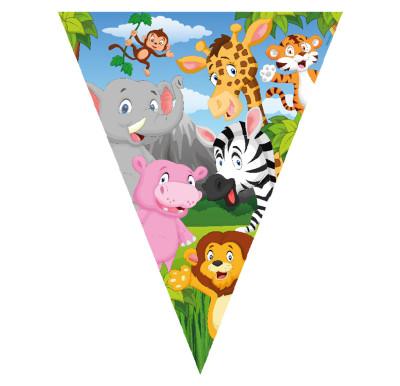 Diğer - Safari Temalı Üçgen Flama Bayrak