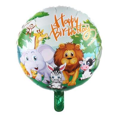 Diğer - Safari Temalı Yuvarlak Folyo Balon 43cm