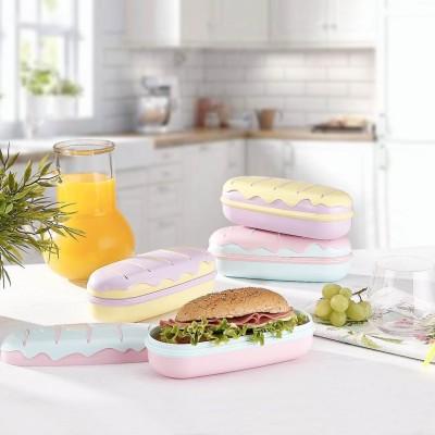 Diğer - Sandviç Tasarımlı Renkli Beslenme Kutusu Asorti