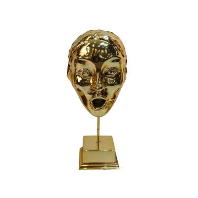Diğer - Şaşkın Yüz Kaplama Dekoratif Biblo Gold