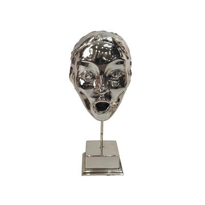 Diğer - Şaşkın Yüz Kaplama Dekoratif Biblo Gümüş