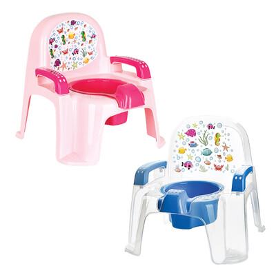 Diğer - Şeffaf Sandalye Şeklinde Lazımlık 30cm Asorti