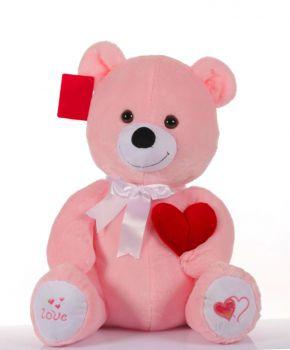Seni Seviyorum Yazan Kalpli Peluş Ayıcık 46cm