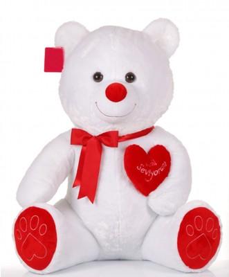 Selay - Seni Seviyorum Yazan Kalpli Peluş Ayıcık 46cm
