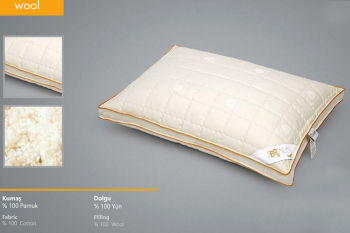 Seral Biyeli Klasik Yün Yastık 50x70cm