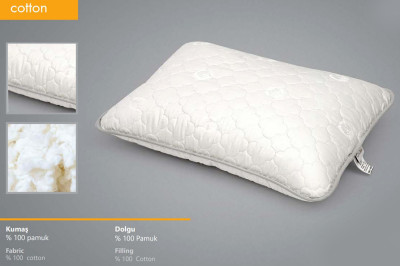 Seral Doğal Pamuk Dolgulu Standart Yastık 50x70cm - Thumbnail