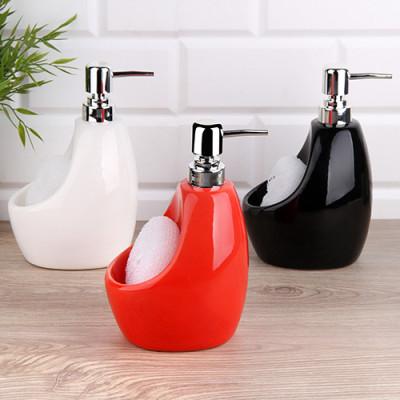 Diğer - Seramik Parlak Yüzeyli Süngerli Sıvı Sabunluk