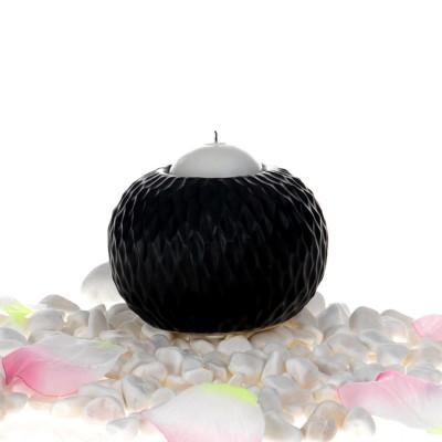Diğer - Seramik Top Mumluk Siyah