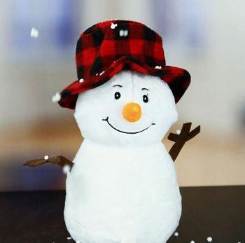 Sevimli Peluş Kardan Adam 25cm