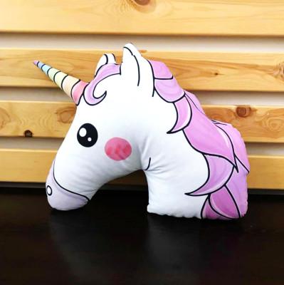 Diğer - Sevimli Unicorn 3D Özel Kesim Yastık 46cm