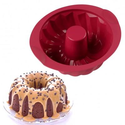 Joy Kitchen - Silikon Borulu Büyük Şef Kek Kalıbı 20cm