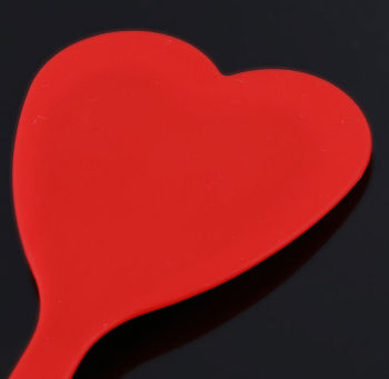 Silikon Kalp Şeklinde Spatula Asorti