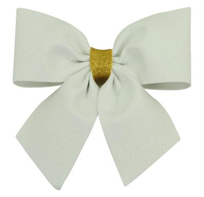Diğer - Simli Eva Büyük Fiyonk 20cm Beyaz