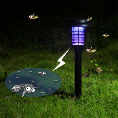 Diğer - Sinek Kıran Mor Işıklı Bahçe Lambası Güneş Enerjili