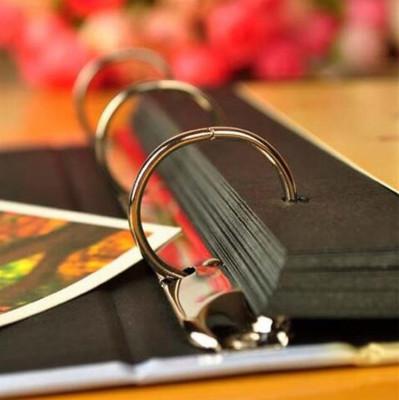 Sinema Klaketi Şeklinde Siyah Yapraklı Fotoğraf Albümü - Thumbnail