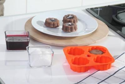 Softbowl 4lü Papatya Silikon Muffin Kalıbı - Thumbnail