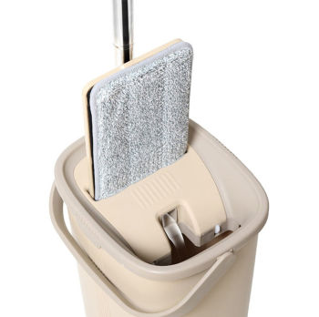 Spin Mop Tablet Çift Hazneli Mikrofiber Pratik Temizlik Seti