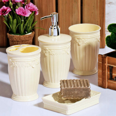 Sultan Kabartmalı 4 Parça Banyo Seti Asorti - Thumbnail