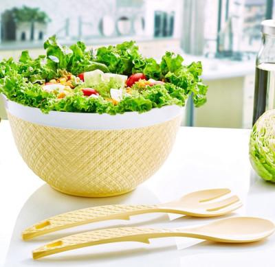 Diğer - Sümbül Kaşıklı Plastik Salata Kasesi 6 Lt