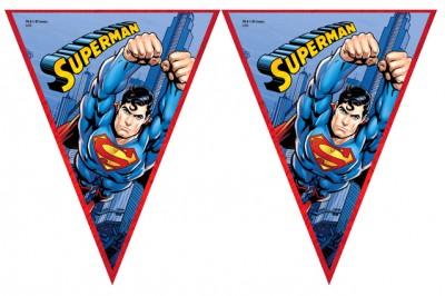 Diğer - Süperman Baskılı Erkek Çocuklar İçin Flama Bayrak