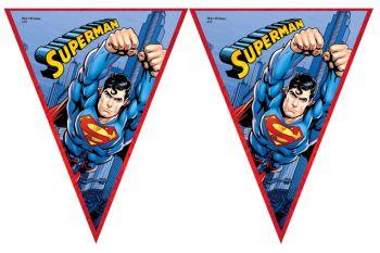 Süperman Baskılı Erkek Çocuklar İçin Flama Bayrak