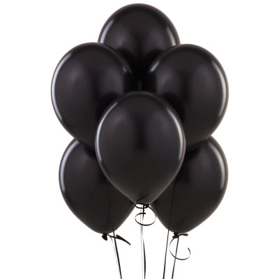 Diğer - Süsleme ve Parti Balonu Siyah 100 Adet