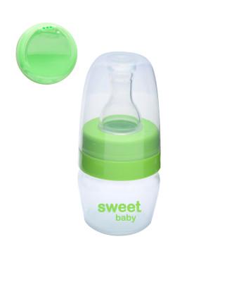 Sweet Baby - Sweet Baby Biberon ve Suluk Kapaklı Alıştırma Seti 30ml Yeşil