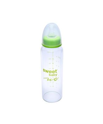 Sweet Baby - Sweet Baby Kristal Isıya Dayanıklı Cam Biberon 250ml Yeşil