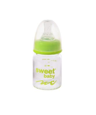 Sweet Baby - Sweet Baby Kristal Isıya Dayanıklı Cam Biberon 60ml Yeşil