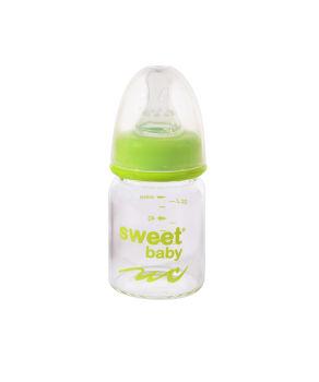 Sweet Baby Kristal Isıya Dayanıklı Cam Biberon 60ml Yeşil