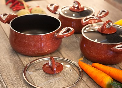 Taç Mutfak - Taç Granit 3lü Güveç Set