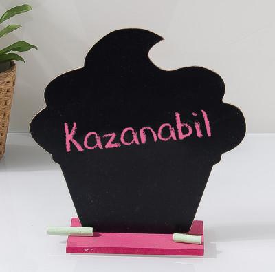 Diğer - Tebeşirle Yazılabilir Cupcake Tasarımlı Yazı Tahtası
