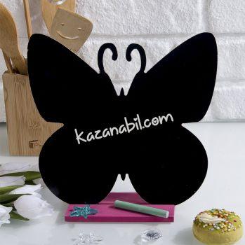 Tebeşirle Yazılabilir Kelebek Tasarımlı Yazı Tahtası