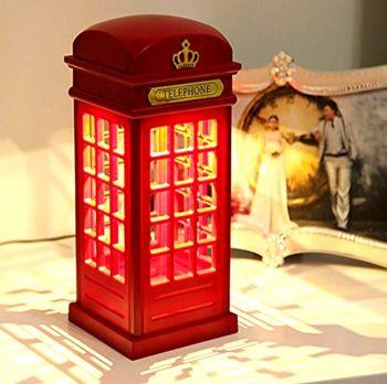 Telefon Kulübesi Şeklinde Şarjlı Dokunmatik Gece Lambası