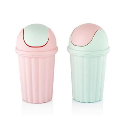 Tezgah Üstü Oynar Kapaklı Mini Çöp Kovası 1500ml - Thumbnail