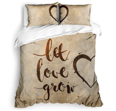 The Club Cotton - The Club Cotton 3D Dijital Grow Love Çift Kişilik Nevresim Takımı