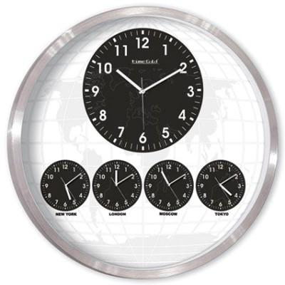 Time Gold - Time Gold 5li Yuvarlak Dünya Duvar Saati