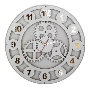 Time Gold Çarklı Akar Saniye Ahşap Duvar Saati 40cm