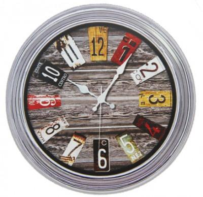 Time Gold - Time Gold Dekoratif Yuvarlak Gerçek Cam Eskitme Duvar Saati 35cm