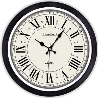 Time Gold - Time Gold Eskitme Romen Rakamlı Yuvarlak Cam Duvar Saati
