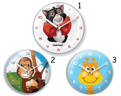 Time Gold - Time Gold Hayvan Motifli Yuvarlak Mıknatıslı Buzdolabı Saati 10cm